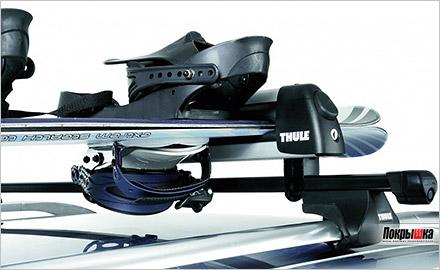 перевозка лыж и сноубордов на крыше авто