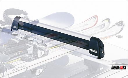 размещение сноубордов и лыж на крыше автомобиля