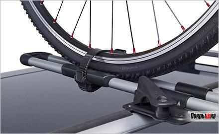 велосипед легко закрепить в креплении ФриРайд 532 от Туле
