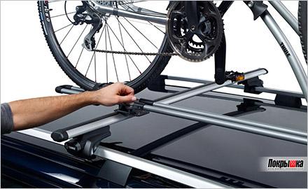 простая установка велосипеда на FreeRide 532 от Thule