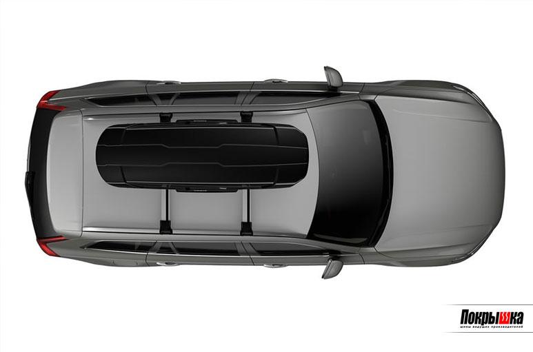 Размещение бокса на крыше авто Thule Motion XT Sport