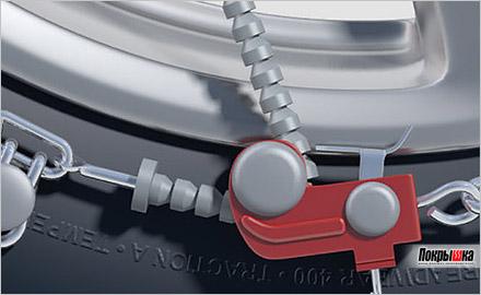 цепь THULE XG-12 Pro на колесе внедорожника