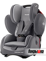 Автокресло RECARO Young Sport Hero (Aluminium Grey)