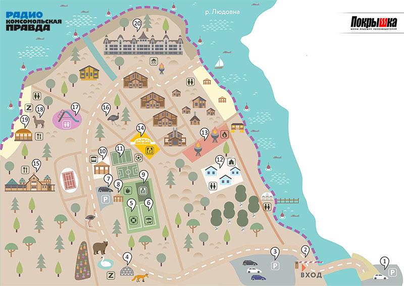План территории Парк-отеля «Орловский»