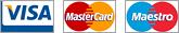 Оплата шин картами VISA, MasterCard, Maestro