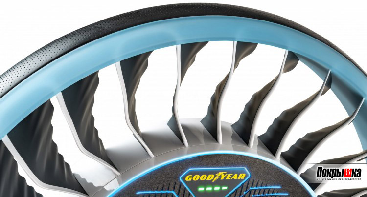 Шина для беспилотных и летающих автомобилей Goodyear Aero Concept