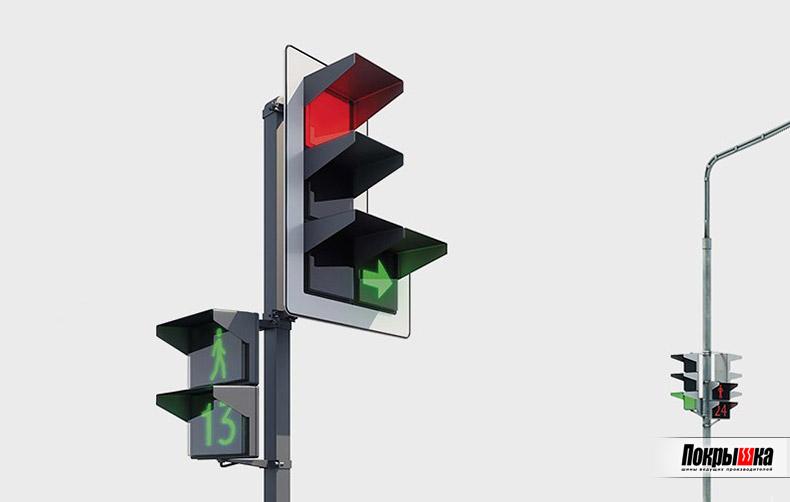 Новые квадратные светофоры в России