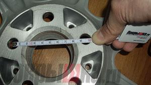 как измерить ширину дюм у дисков nissan
