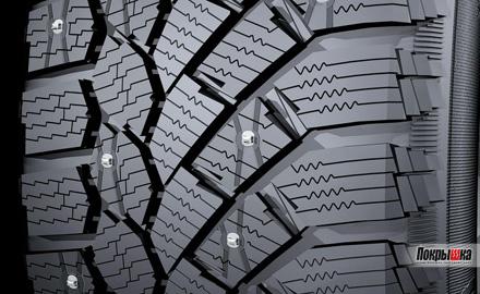 ламелированный рисунок протектора континенталь HD