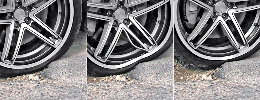 Принцип работы гибких колесных дисков с технологией Acorus