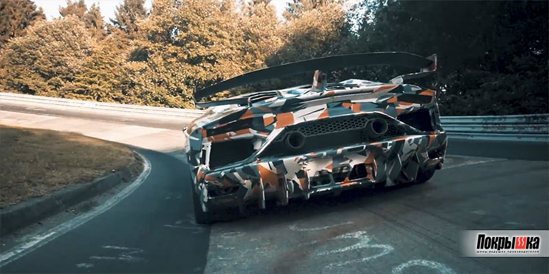 Lamborghini Aventador SVJ на шинах Pirelli