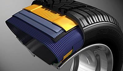 грузовая шина в разрезе